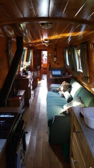Inside Jameson - a Narrow Boat