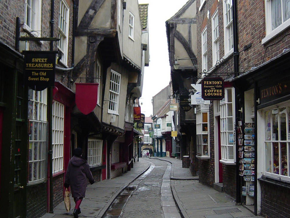 The Shambles - a quaint mediaeval shopping precinct.